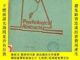 二手書博民逛書店Psychological罕見Abstracts.VOL.76.AUTHOR INDEX 1Y11418 Ps