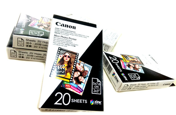 原廠Canon ZP-2030-20迷你相印機PV-123相紙20張1盒