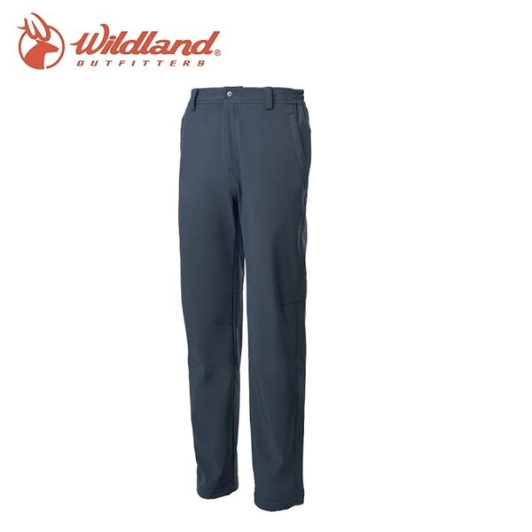 【Wildland 荒野 男彈性輕三層防風保暖長褲《深鐵灰》】0A62306/戶外/登山/健行