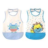 618好康鉅惠 嬰兒兒童罩衣女孩防水飯兜夏季薄款兜飯衣