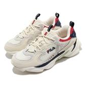 Fila 休閒鞋 Skipper 米白 藍 女鞋 奶茶色 老爹鞋 復古慢跑鞋 運動鞋 【ACS】 4J528U234