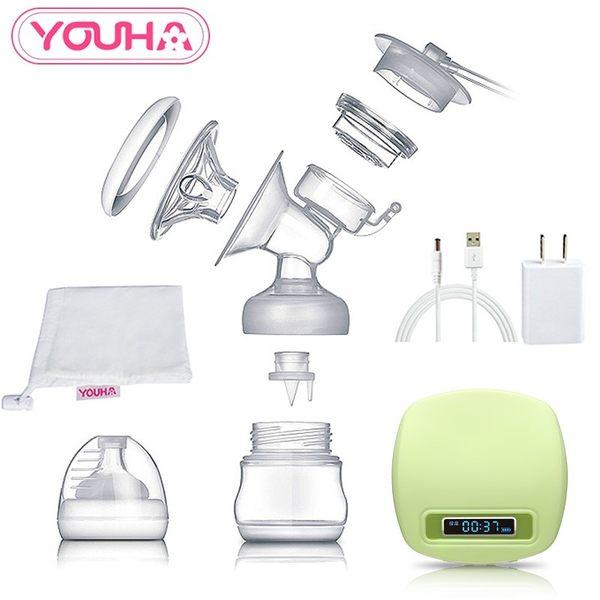 優合液晶電動吸奶器 自動按摩吸乳器擠奶器 產婦用品拔奶器可充電  秘密盒子