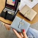 歐美新款2021錢包女短款小巧超薄皮夾簡約百搭大氣錢夾多卡位卡包 一米陽光