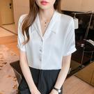 M-4XL短袖襯衫~7203# 上短袖緞...