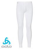 瑞士 ODLO Warm 排汗保暖型內搭褲 男款 白 #152042