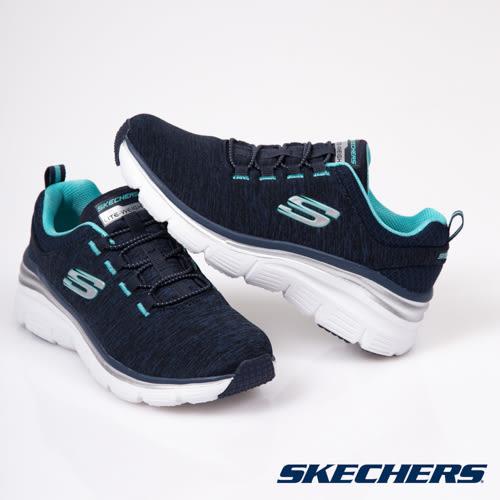 SKECHERS 女鞋 休閒系列 FASHION FIT 記憶型泡棉鞋墊 - 增高厚底 12716NVTQ