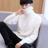 男士高領毛衣2020新款春季加厚韓版寬鬆線衣潮流男學生個性針織衫 藍嵐