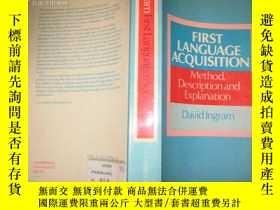二手書博民逛書店英文原版FIRST罕見LANGUNGE ACQUISITION9