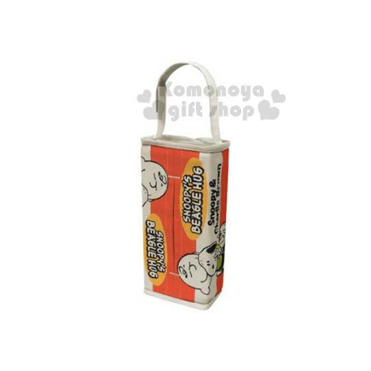 〔小禮堂〕史努比 帆布吊掛面紙套《橘.抱查理布朗》室內汽車兼用4956019-13142