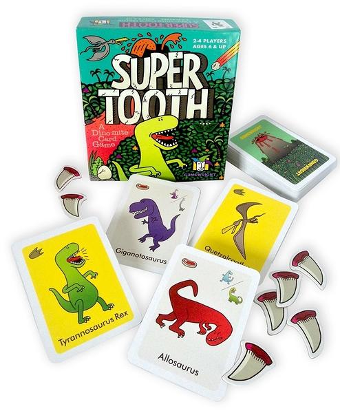 [楷樂國際] 巨齒咬咬 Super Tooth #Gamewright 桌遊 恐龍