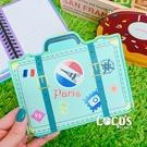 造型零錢包 手提 行李箱 收納包 皮質零錢包 票卡包 票卡零錢包 COCOS WZ075
