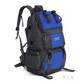 新款防潑水尼龍50L大容量戶外運動雙肩背包徒步旅行耐磨登山包 qz3946【野之旅】