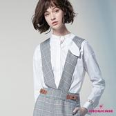 【SHOWCASE】氣質珍珠領結造型長袖襯衫(白)