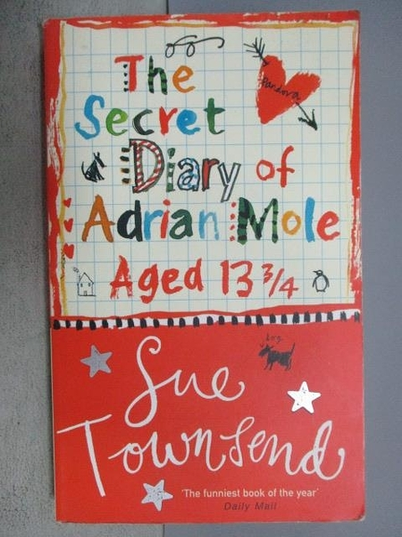 【書寶二手書T7/原文小說_MLO】The Secret Diary of Adrian Mole Aged 13 3/