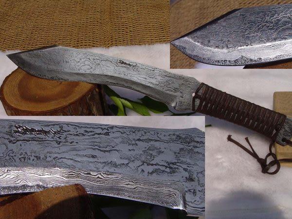 郭常喜與興達刀具--郭常喜限量手工刀品-積層鋼藝術刀(A0058)