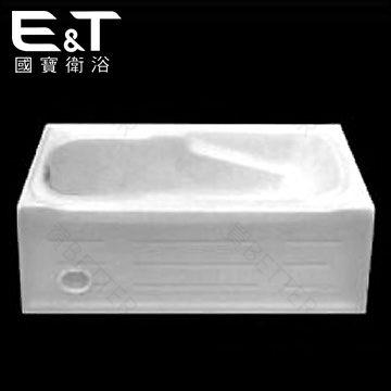 【買BETTER】國寶衛浴浴缸系列/國寶浴缸 E-7525單牆壓克力浴缸(150x70cm)★送6期零利率★