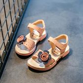 2018夏季新款兒童涼鞋韓版百搭女童鞋子真皮軟底防滑小公主平底鞋   初見居家