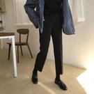 西裝褲春裝正韓復古黑色休閒褲女彈力修身顯瘦西裝褲直筒九分褲學生【快速出貨】