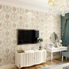歐式田園3D自粘墻紙溫馨臥室