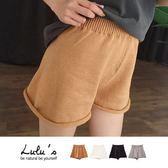 LULUS-Y針織捲邊鬆緊短褲-4色  現+預【04051470】