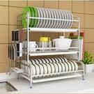 304不銹鋼廚房碗架瀝水架晾放碗筷瀝碗柜臺面家用品收納盒置物架