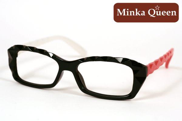 Minka Queen 俏麗紅白彩色混搭黑框(無鏡片)潮流必備個性百搭流行配光眼鏡