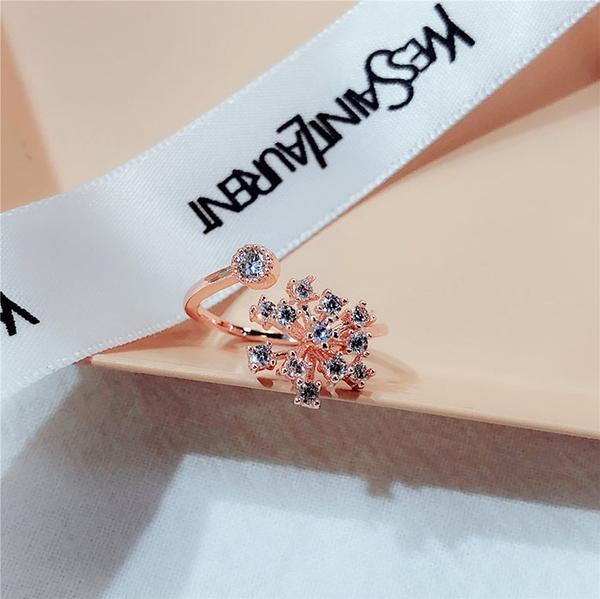 鑲鑽 水晶 個性 簡約 清新 開口 戒指【DD1811069】 ENTER  01/24