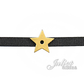 茱麗葉精品【全新現貨】Christian Dior CD LOGO可調動式星星造型頸鍊.黑