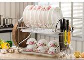 廚房置物架家用控水槽晾盤子放碗碟櫃箱裝碗筷收納盒  YYP   走心小賣場