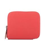 【HERMES】Epsom皮革絲巾內裡ㄇ型拉鏈短夾(玫瑰粉) H064959CKAD