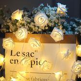 LED玫瑰花燈串防水小彩燈串燈婚房臥室房間裝飾燈串求婚錶白燈串聖誕狂歡好康八折