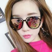 【TT】墨鏡女 新款網紅明星款圓臉韓版優雅眼鏡圓形個性太陽鏡女士