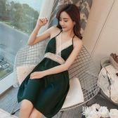 吊帶睡裙 薄款韓版冰絲時尚性感連體真日式夏季女睡衣 FR5910『男人範』
