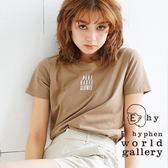 ❖ Autumn ❖ 簡約標語打印圓領T恤 - E hyphen world gallery