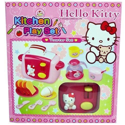 《Hello Kitty》烤麵包機遊戲組 ╭★ JOYBUS玩具百貨