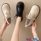 牛津鞋 黑色學生小皮鞋女英倫風2021春季新款厚底系帶牛津日系制服jk單鞋 寶貝計畫