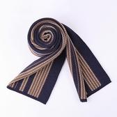 針織圍巾-拼色方格提花羊毛男披肩3色73wi12【時尚巴黎】