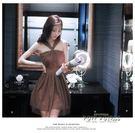韓版學生公主宴會掛脖聚會性感短款小禮服