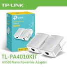 【免運費】TP-LINK TL-PA4010KIT V2 AV500 電力線網路橋接器 (雙入裝) / TL-PA4010 Kit 電力橋接器