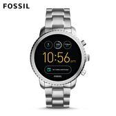 FOSSIL EXPLORIS  銀色不鏽鋼觸控螢幕智慧手錶 男 FTW4000