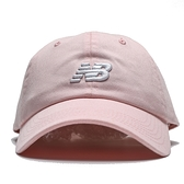 NEW BALANCE 粉橘 白刺繡LOGO 老帽 可調式 男女 (布魯克林) LAH91014PSA