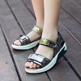 女童涼鞋夏季兒童公主鞋時尚軟底小女孩休閒沙灘涼鞋 全館免運