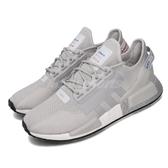 adidas 休閒鞋 NMD_R1 V2 灰 紅 男鞋 運動鞋 襪套式 【PUMP306】 FW5328