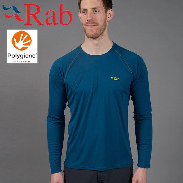 Rab 英國 QBU42-IK墨藍 男抗菌排汗長袖T恤Aerial LS Tee