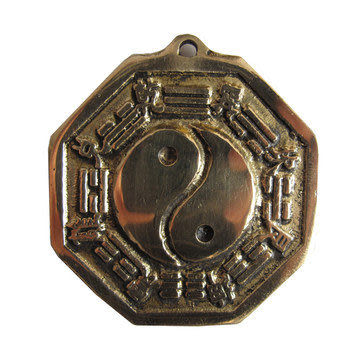 銅 凸面八卦鏡小號 G267