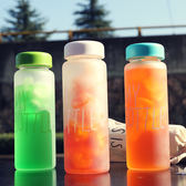 創意便攜玻璃檸檬杯隨行杯子運動隨手水杯【一周年店慶限時85折】