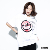 STAYREAL BE HAPPY 迷彩笑臉連帽T