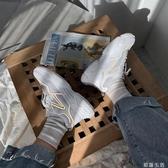 小白鞋女春夏透氣百搭網紅厚底反光運動鞋ins夜光鞋老爹鞋潮 初語生活