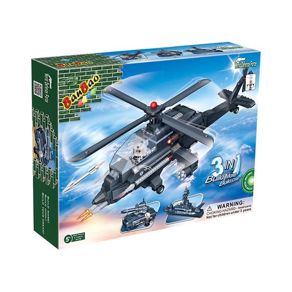 國防系列 NO.8478阿帕奇戰機 3合1【BanBao邦寶積木楚崴】