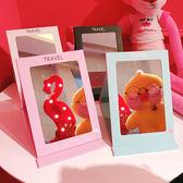 創意可愛小清新可摺疊化妝鏡大號梳妝鏡軟妹便攜鏡子隨身鏡  限時八折嚴選鉅惠